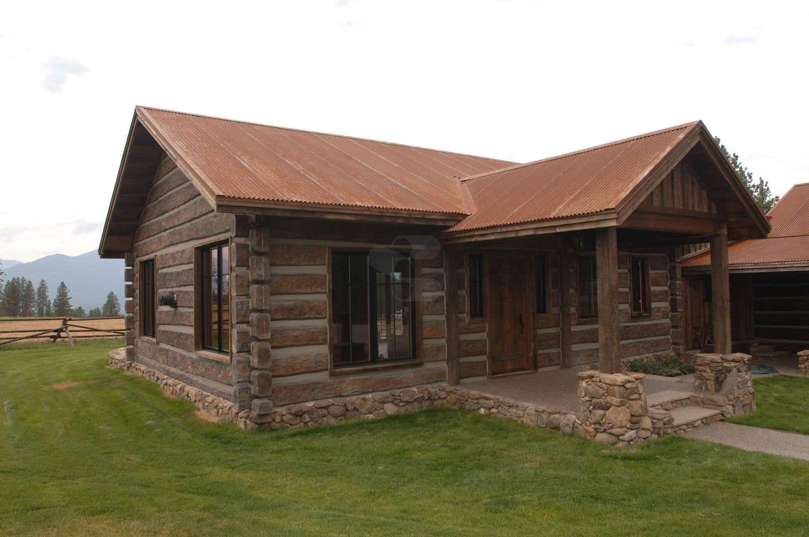 Stevensville montana residence everlog systems for Concrete log cabins