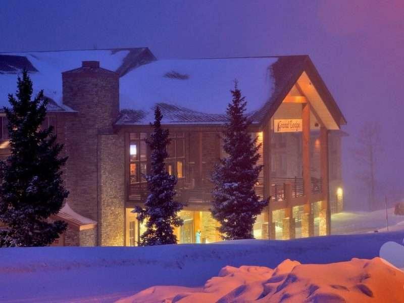 The Grand Lodge at Brian Head, Utah Concrete Log Siding Renovation