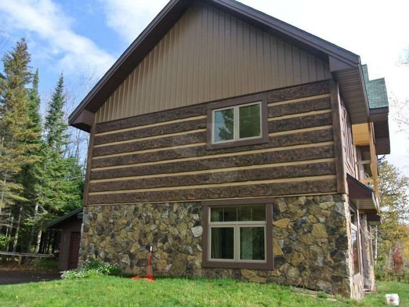 Image of Two Harbors, Minnesota Residence - made with Everlogs Concrete Logs, Siding, and Timbers