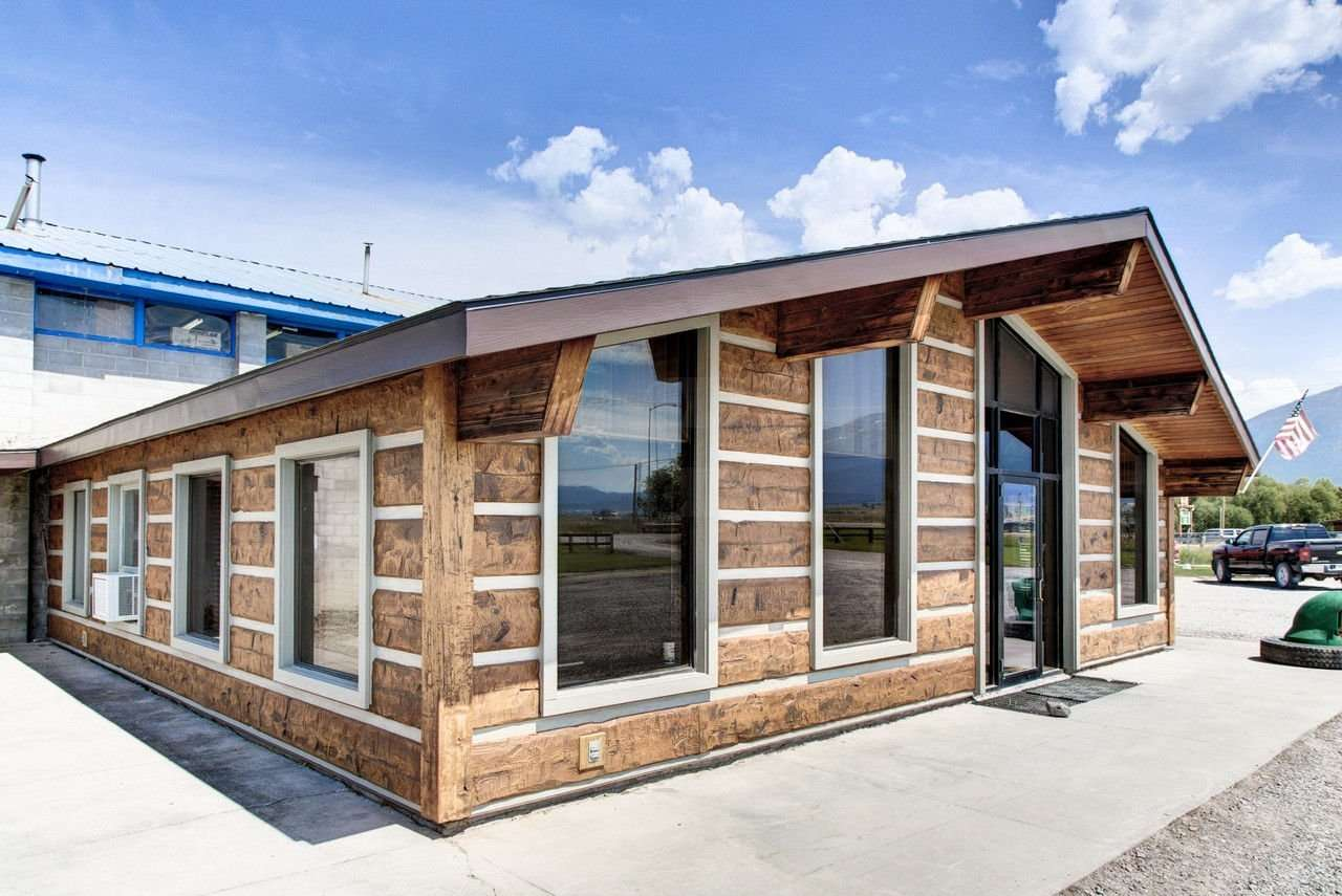 Image of Wadsworth Manufacturing Facility Office, St. Ignatious, Montana - made with Everlogs Concrete Logs, Siding, and Timbers