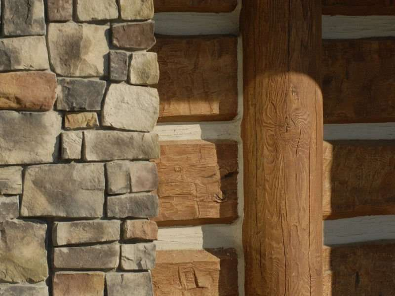 Image of Wise River, Montana Residence - made with Everlogs Concrete Logs, Siding, and Timbers
