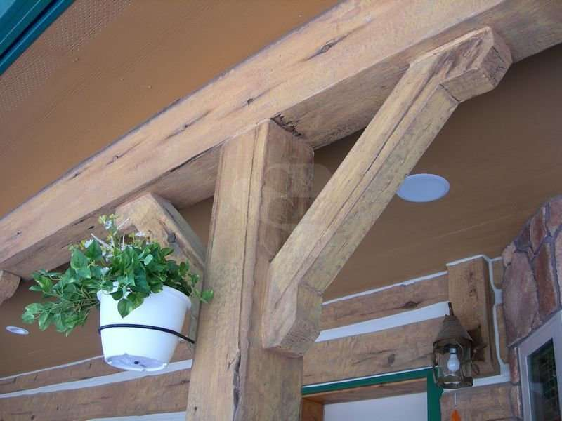 Image of Everlogs Accent Timbers - made with Everlogs Concrete Logs, Siding, and Timbers