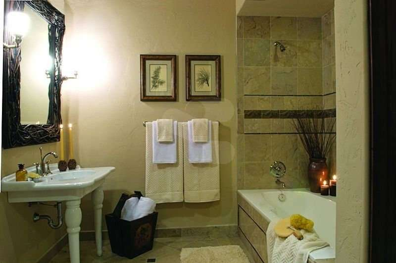 Image of Bathroom project - made with Everlogs Concrete Logs, Siding, and Timbers