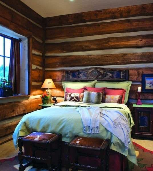 Image of Bedroom project - made with Everlogs Concrete Logs, Siding, and Timbers