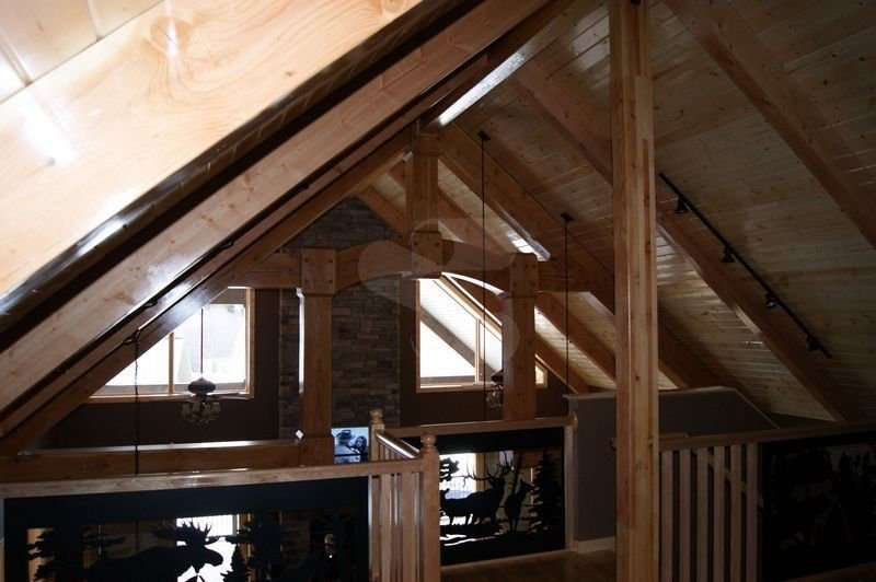 Image of Loft project - made with Everlogs Concrete Logs, Siding, and Timbers