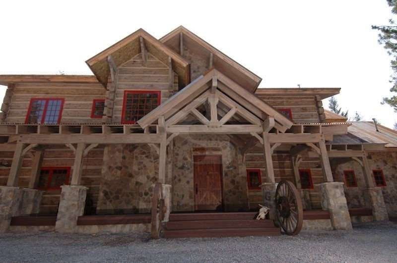 Image of Everlogs Timber Posts - made with Everlogs Concrete Logs, Siding, and Timbers