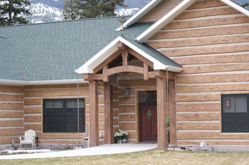 Image of EverLog Concrete Timber Truss - made with Everlogs Concrete Logs, Siding, and Timbers