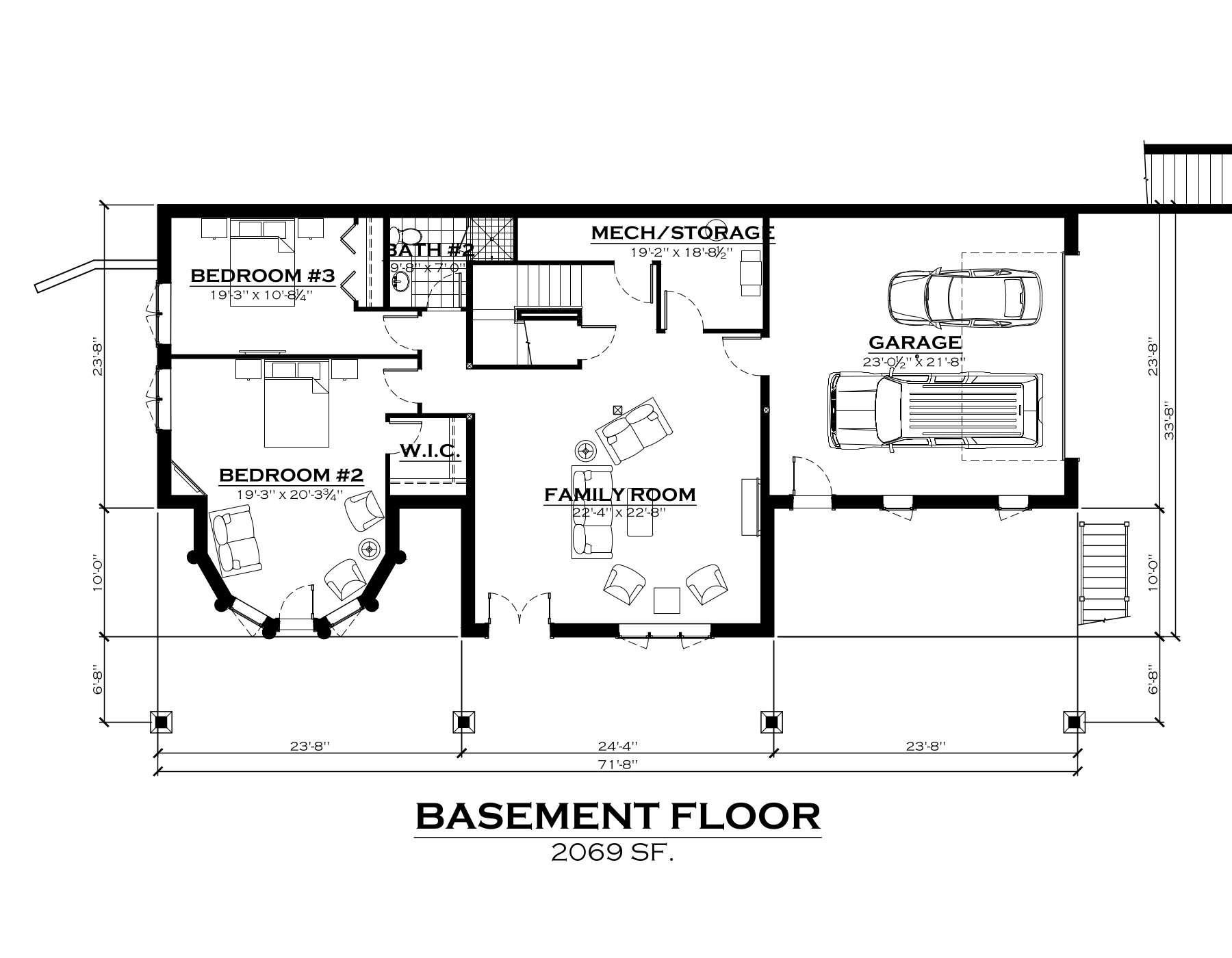 EverLog Systems the Clark Fork Basement Floor Plan