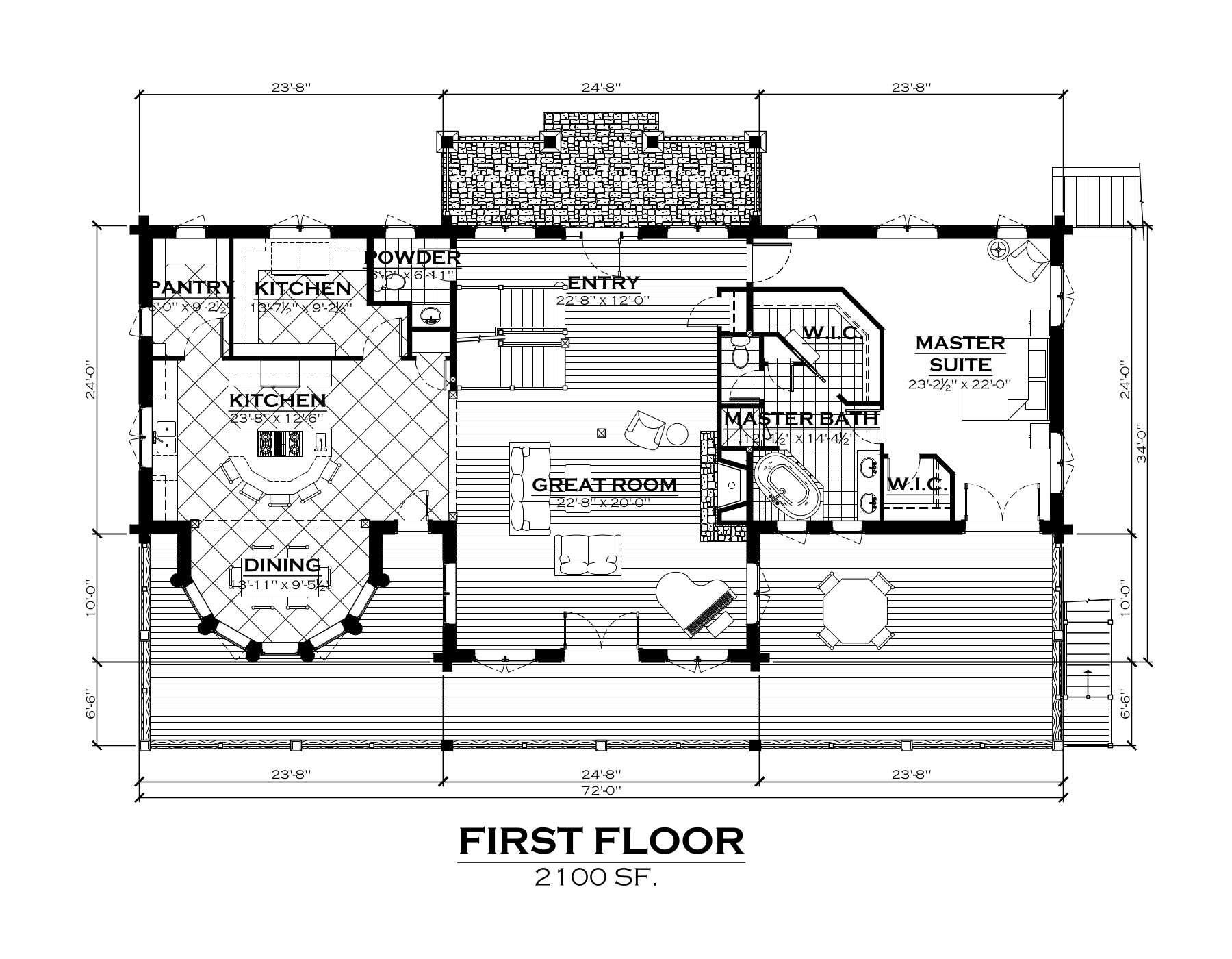 EverLog Systems the Clark Fork Main Floor Plan