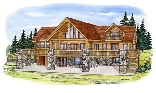 EverLog Systems the Clark Fork Exterior Rendering