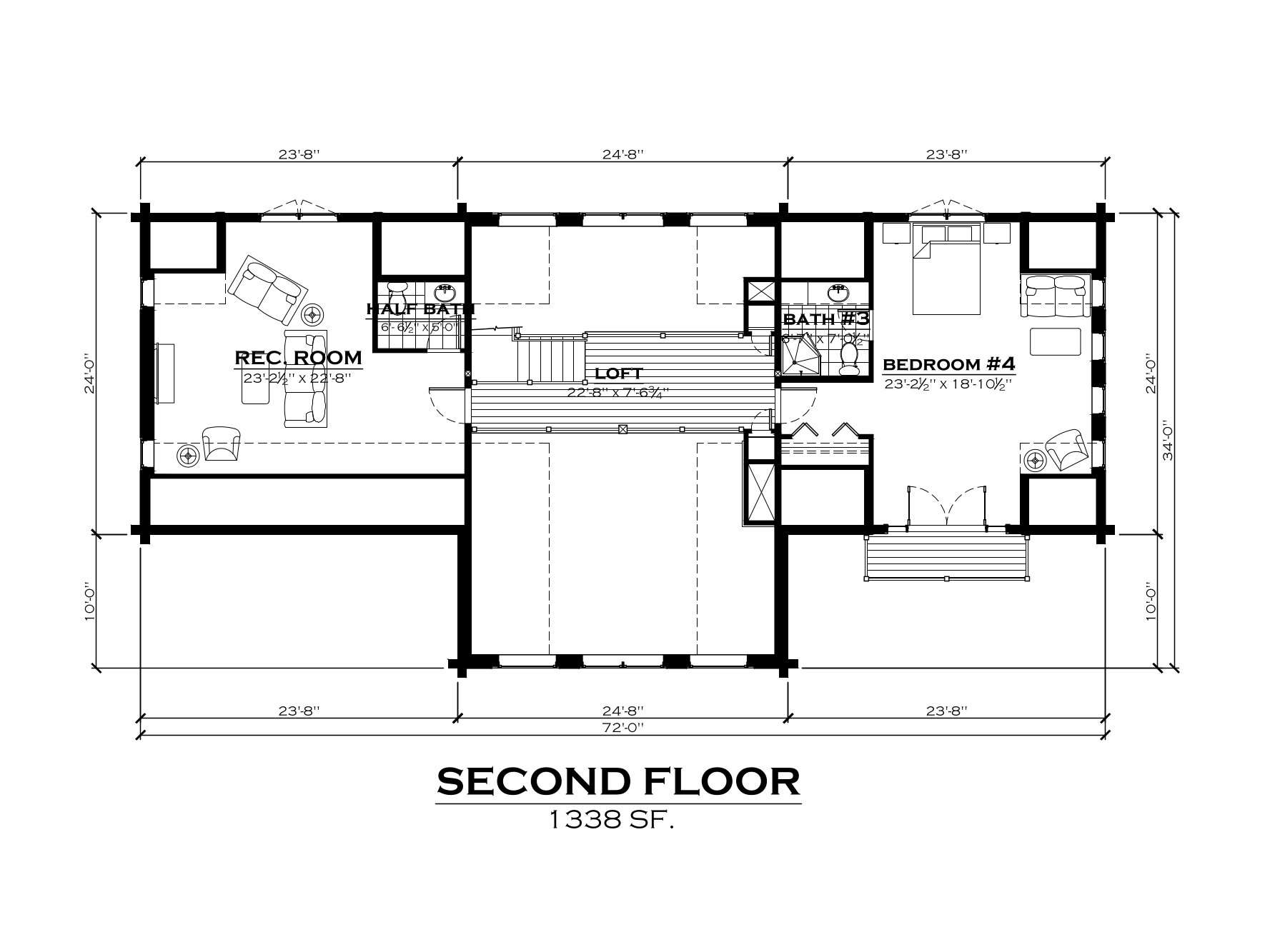 EverLog Systems the Clark Fork Second Floor Plan