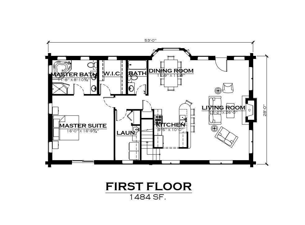 EverLog Systems the Telluride Main Floor Plan
