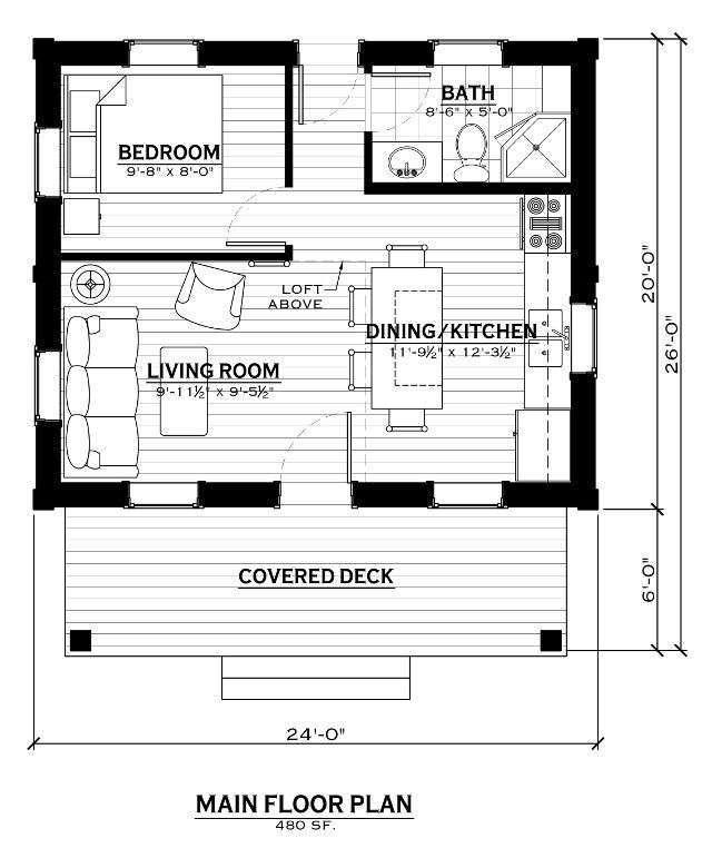 EverLog Systems the Caddis Main Floor Plan