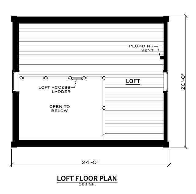 EverLog Systems the Caddis Loft Floor Plan
