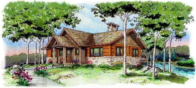 EverLog Systems the Tamarack Exterior Rendering