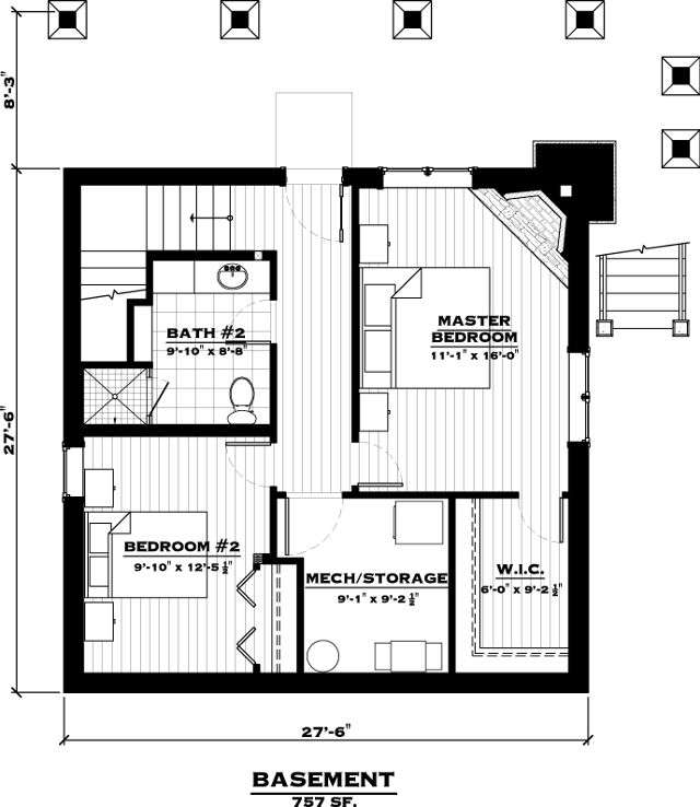 EverLog Systems the Lake Cabin Basement Floor Plan
