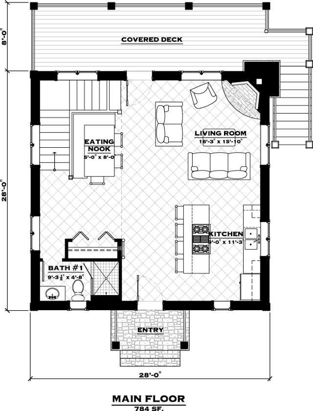 The Lookout Cabin Log Home Floor Plan Everlog Systems