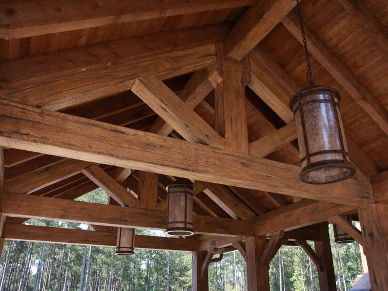 EverLog Concrete Timber Patio Truss