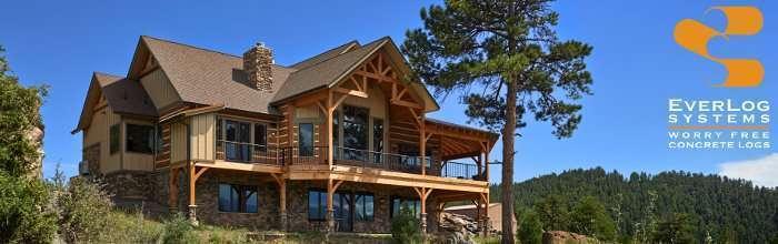EverLog Systems - Maintenance Free Concrete Log Cabin Homes and Log Houses