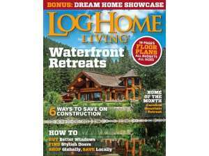 Log Home Living Magazine June 2015 Featured Cover