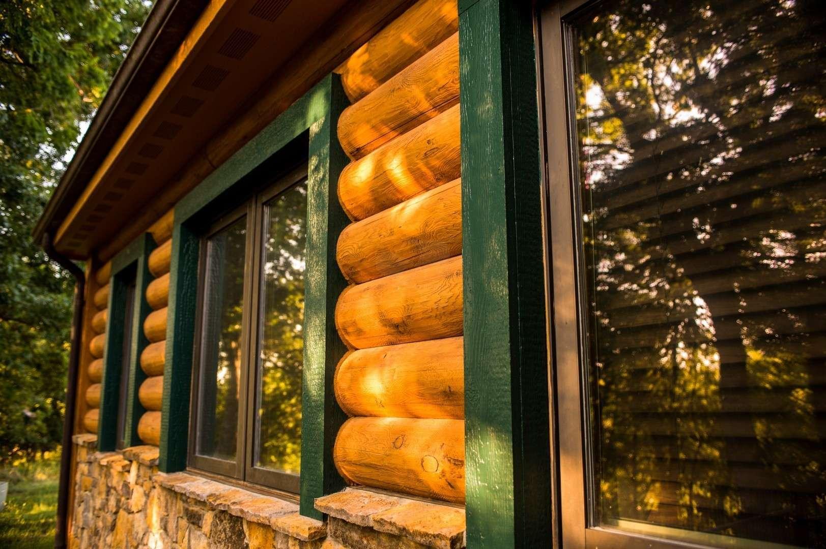 "8"" Round EverLog Concrete Log Siding - Severy, Kansas Residence - Image 08"