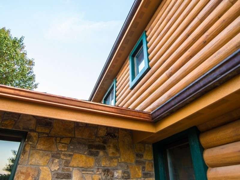"8"" Round EverLog Concrete Log Siding - Severy, Kansas Residence - Image 13"