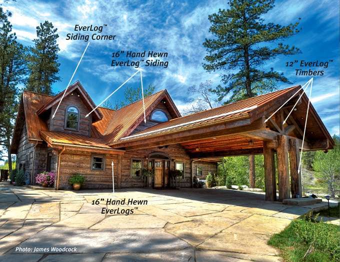 Why build a concrete log home everlog systems How to build a butt and pass log cabin