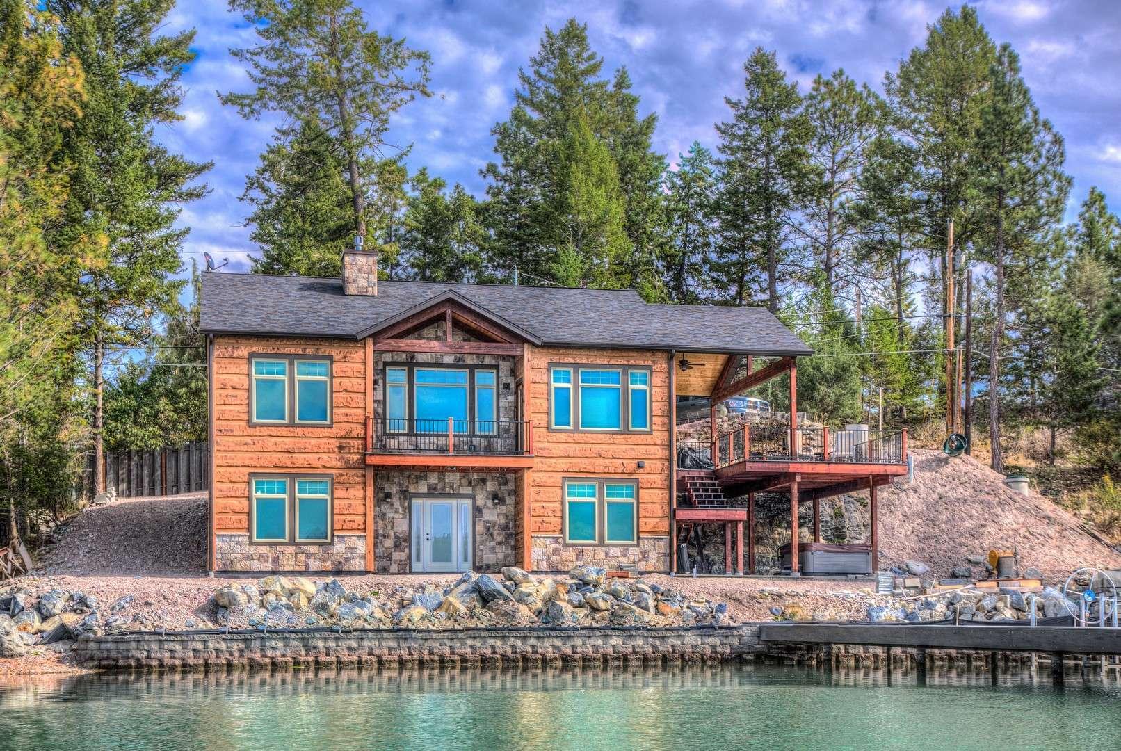 Kings Point Flathead Lake Montana Concrete Log Siding