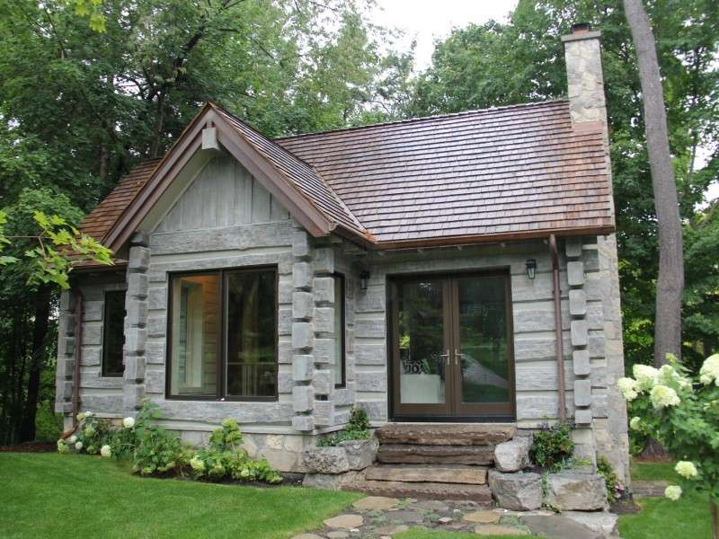 Toronto Canada Concrete Log Cabin on floor plans for small homes and cabins