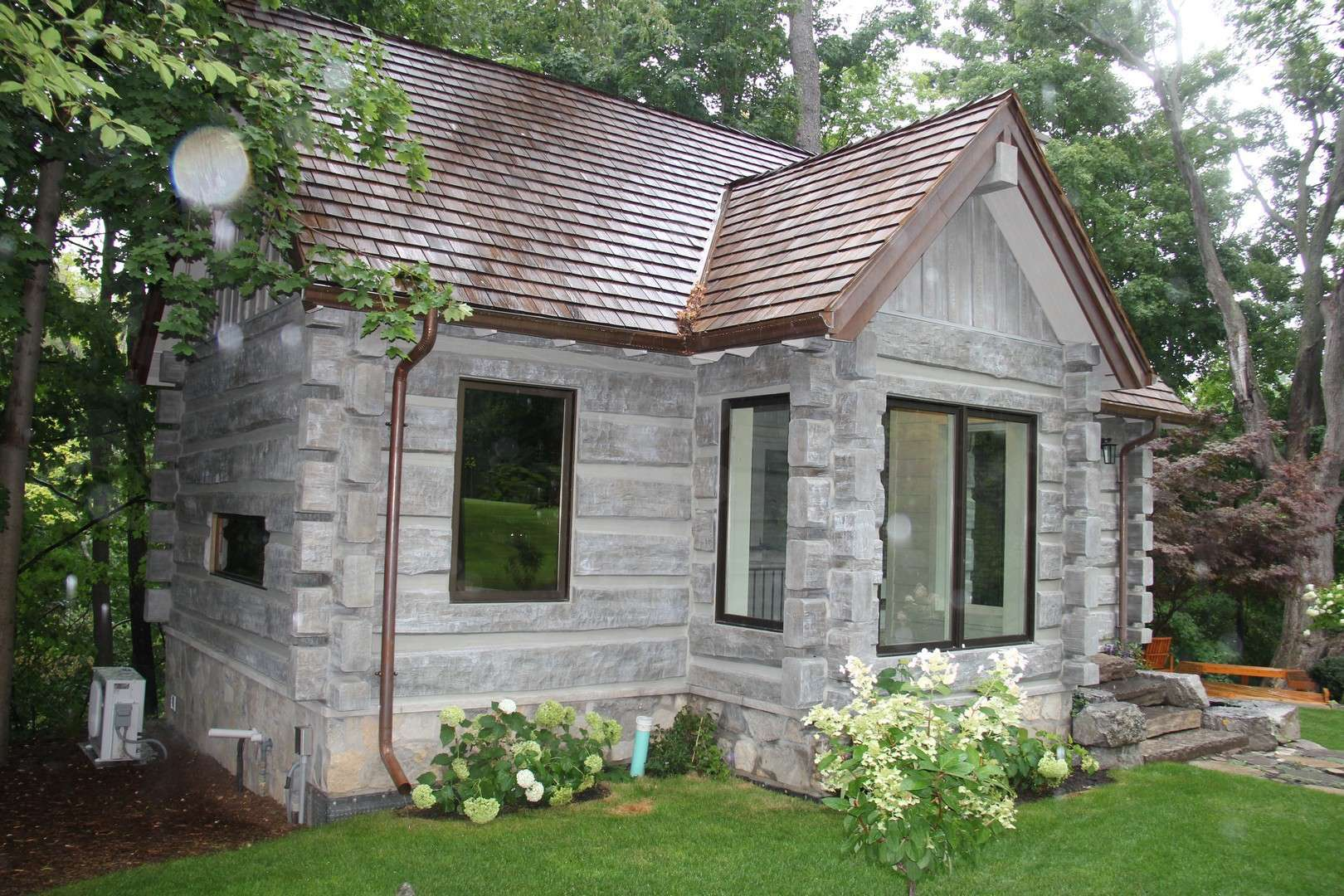 Toronto Canada Concrete Log Cabin on Small Log Cabin Home House Plans