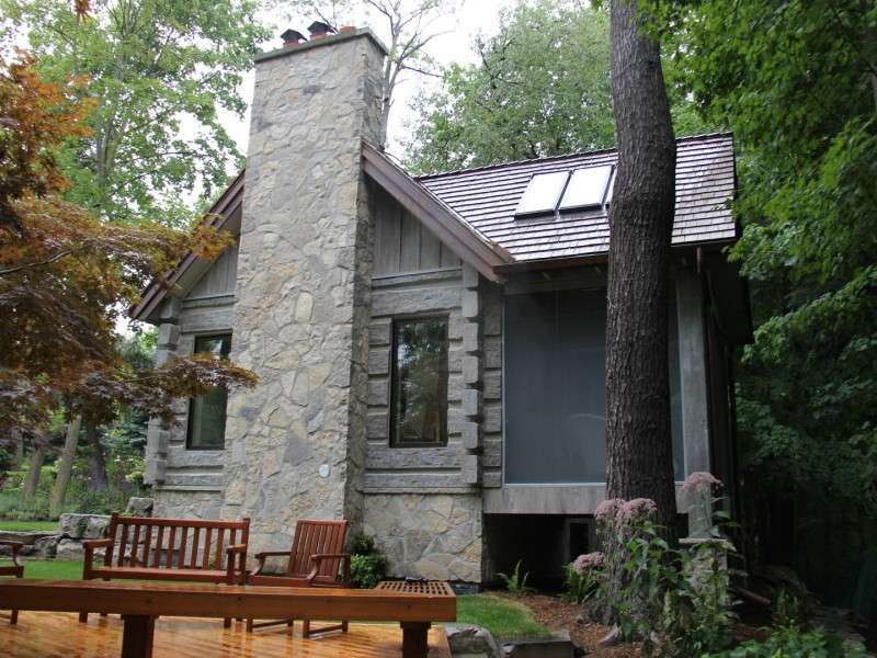 Toronto Concrete Log Cabin In The Woods