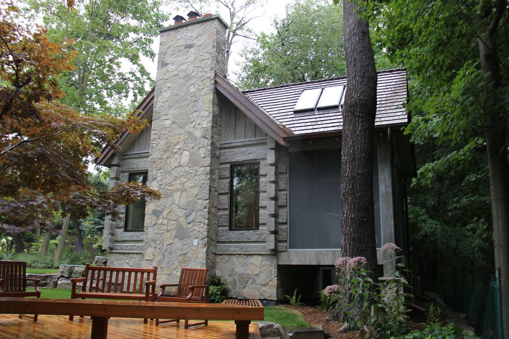 Toronto Canada Concrete Log Cabin Everlog Systems