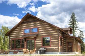 Adirondack Style Concrete Log Cabin