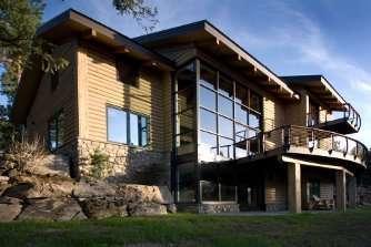 Contemporary Concrete Log Home