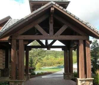 Exterior Timber Concrete Components