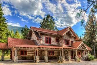 Mountain Rustic Concrete Log Home