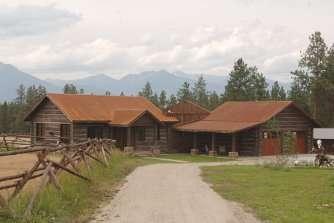 Ranch Style Concrete Log Home