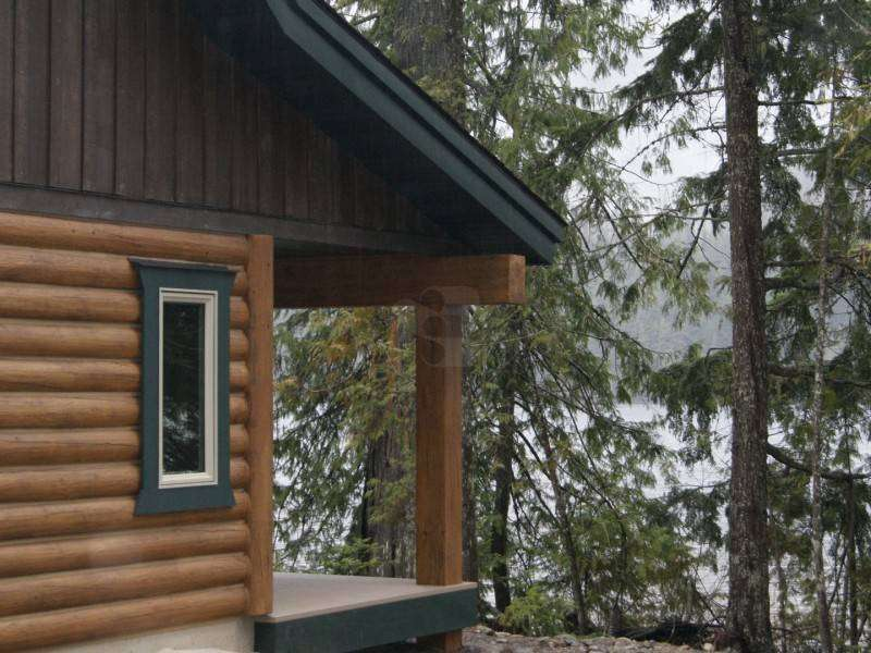 Image of Bull Lake, Montana Cabin - made with Everlogs Concrete Logs, Siding, and Timbers