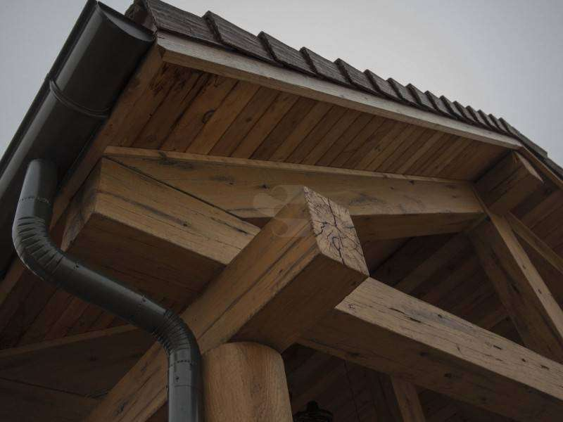 Image of Burnsed Villages Log Siding Timbers - made with Everlogs Concrete Logs, Siding, and Timbers