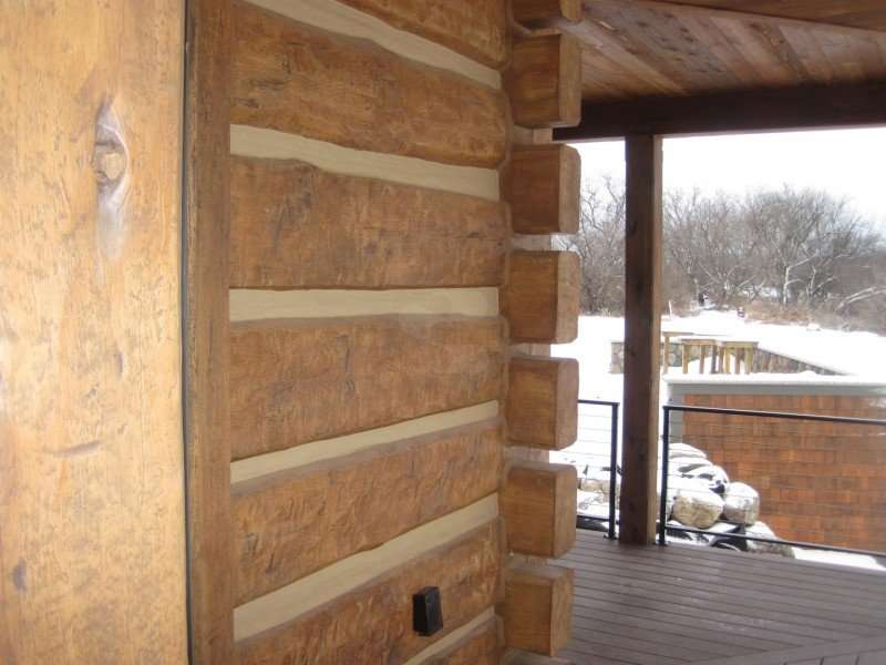 Image of Mora Concrete Log Hunting Cabin - made with Everlogs Concrete Logs, Siding, and Timbers