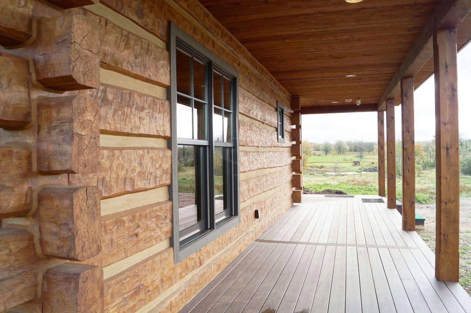 Mora minnesota hunting cabin everlog systems for Concrete log cabins