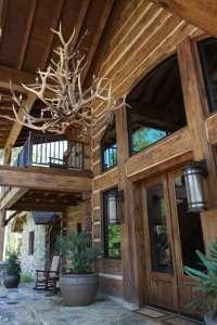 Rustic Log Looking Concrete Homes