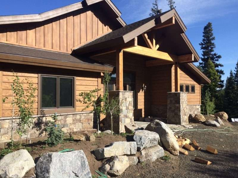 McCall Idaho Plank Timber Siding