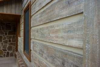 "10"" Plank EverLog Concrete Log Siding - Weathered Gray"