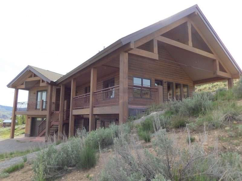 Stanley, Idaho Concrete Log Home