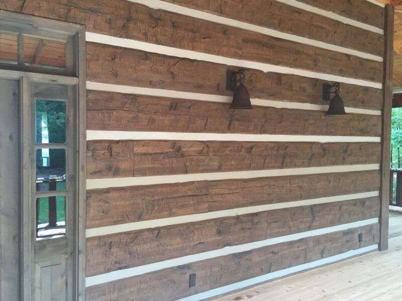 Menlo georgia log home everlog systems for Concrete log home plans