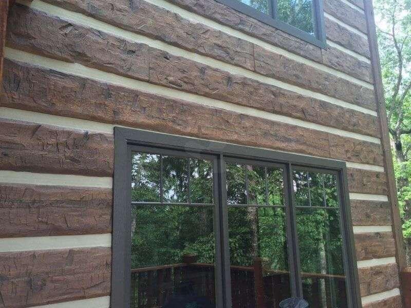 EverLog Concrete Log Siding Cabin - Menlo, Georgia