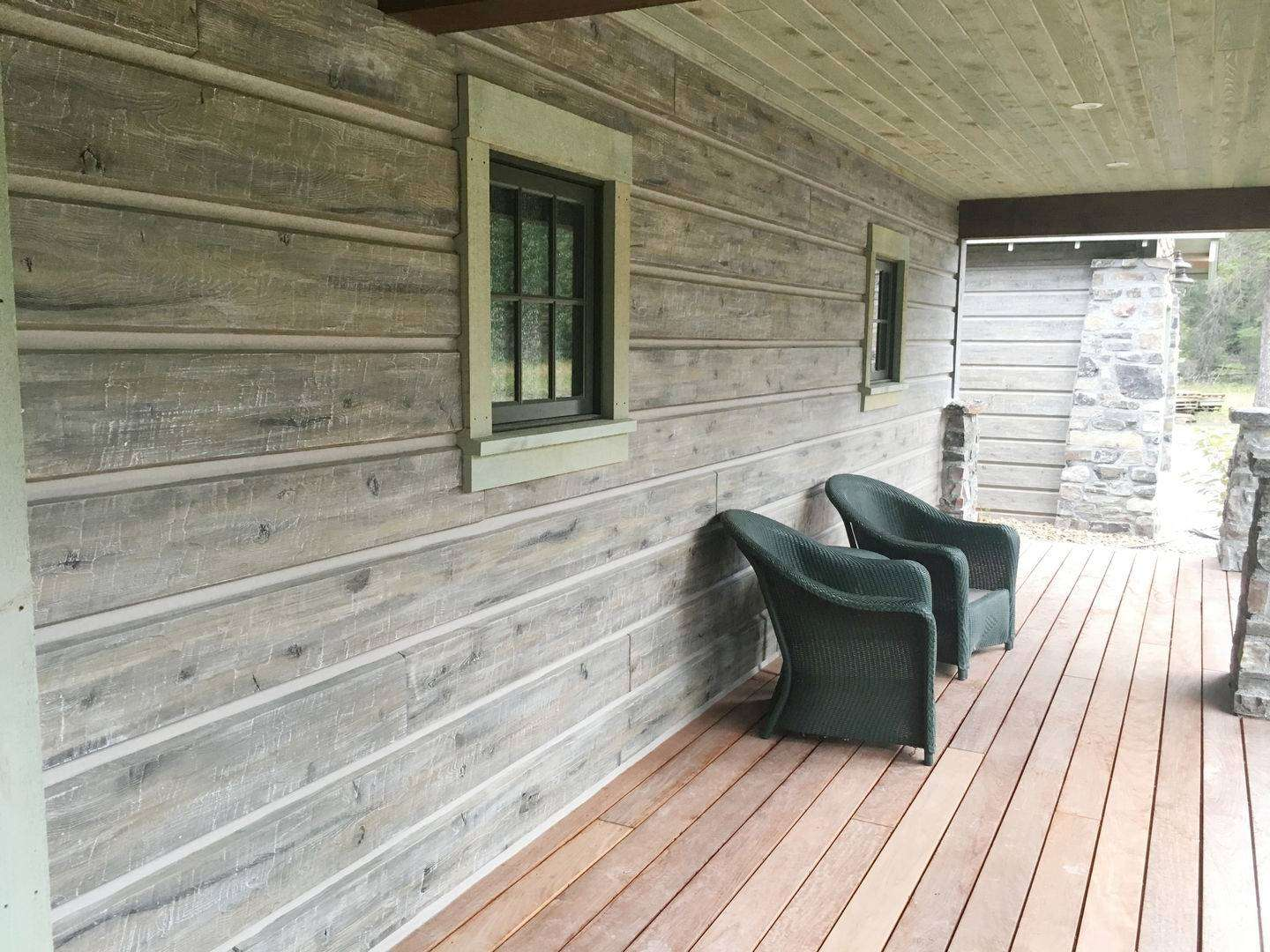 Image of Hungry Horse Glacier Montana Weathered Timber Siding - made with Everlogs Concrete Logs, Siding, and Timbers