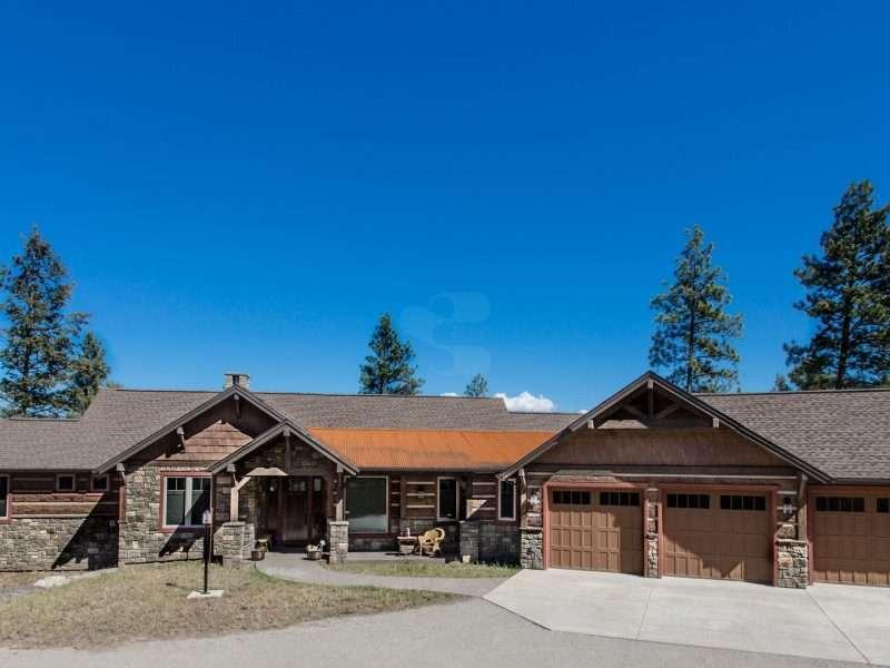 Montana Log Home with Concrete Log Siding 02