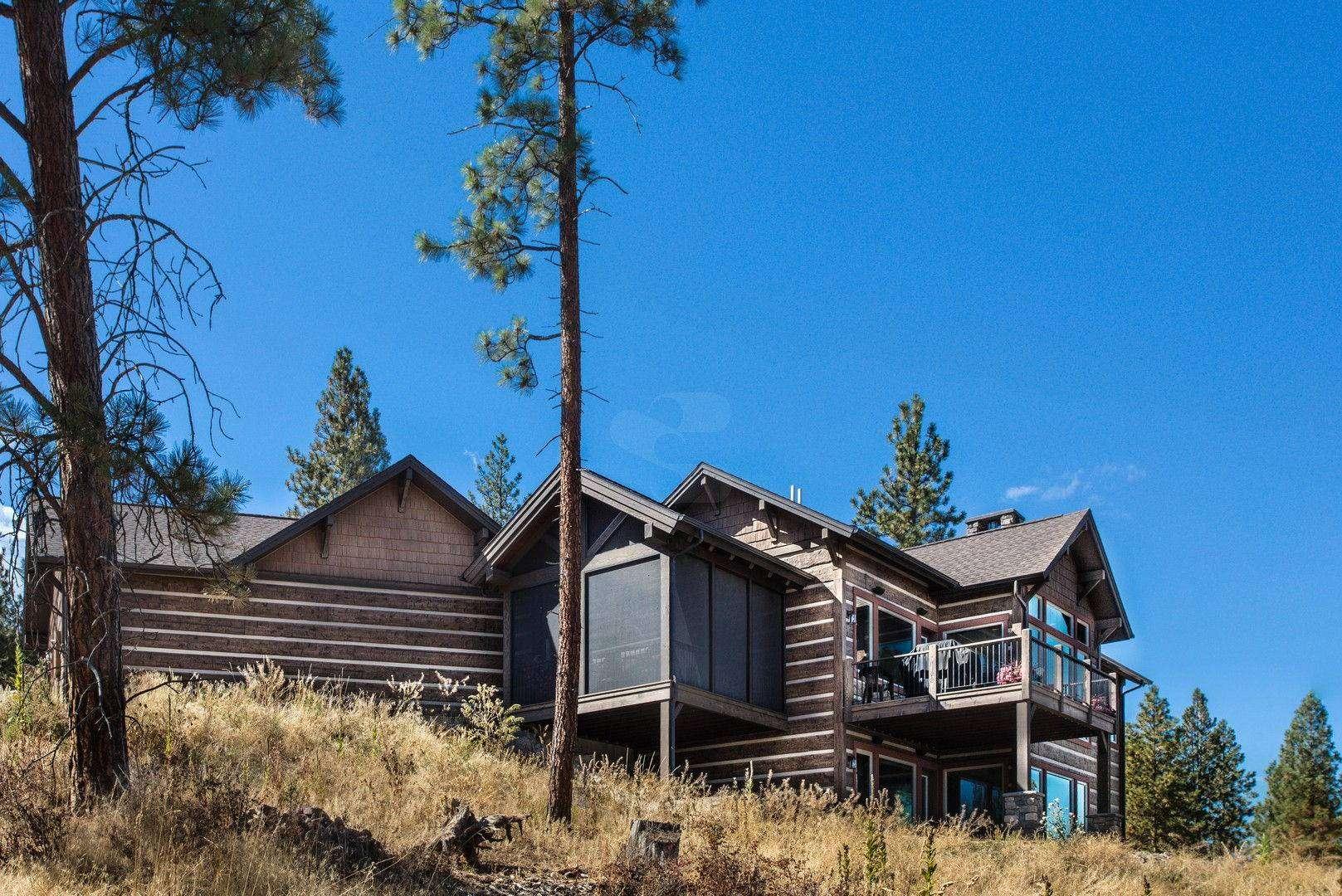 Montana Log Home with Concrete Log Siding 06